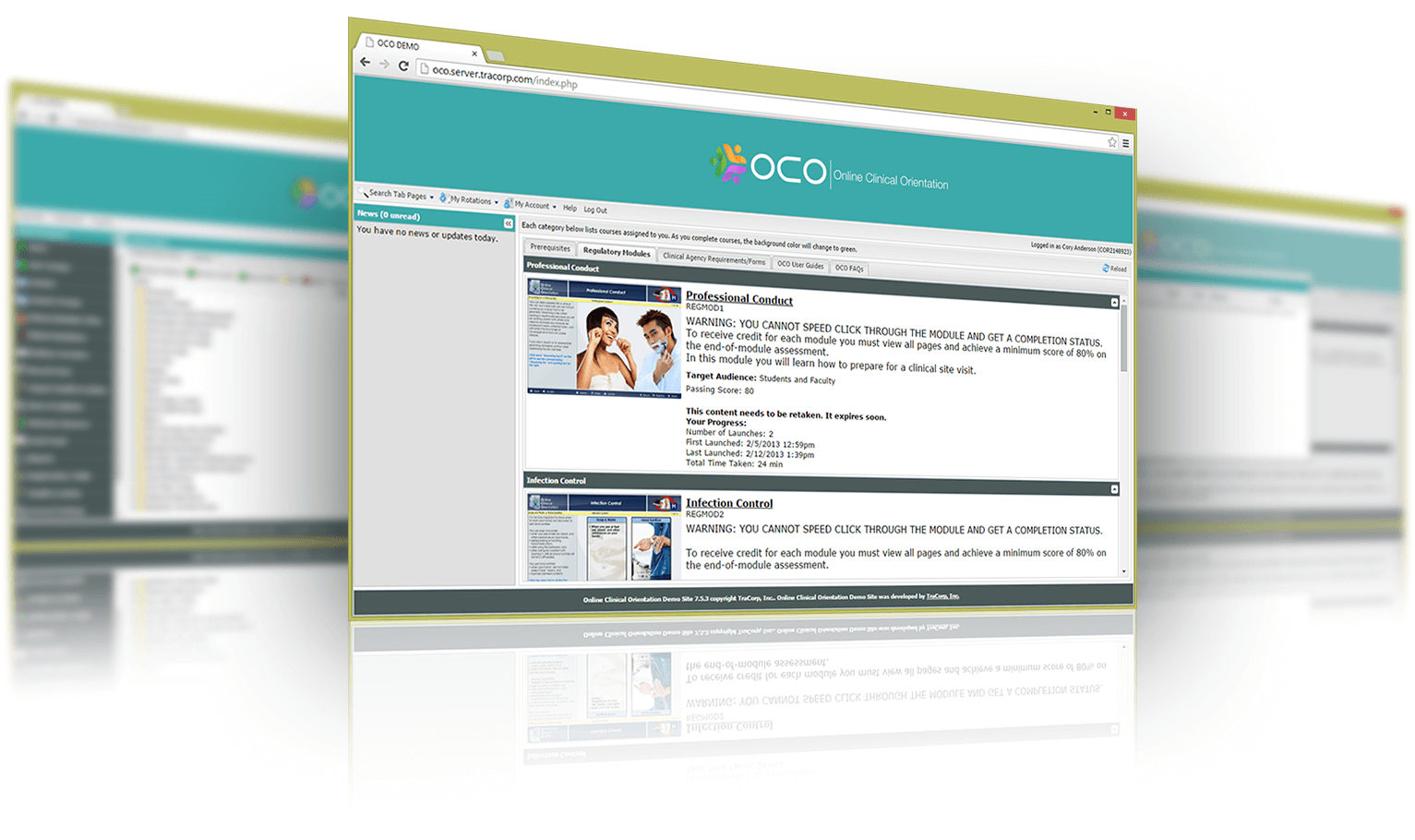 Online Clinical Orientation Learning Management System